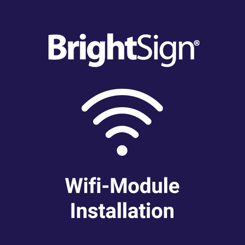Installation BrightSign Wireless Module