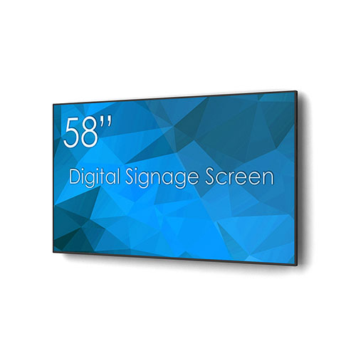 """Angle de l'écran de signalisation numérique """"SWEDX 58"""