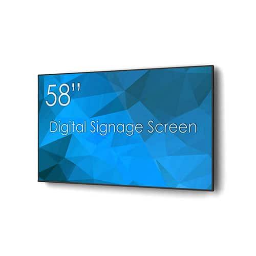 "SWEDX 58"" Digital Signage Screen Angle"