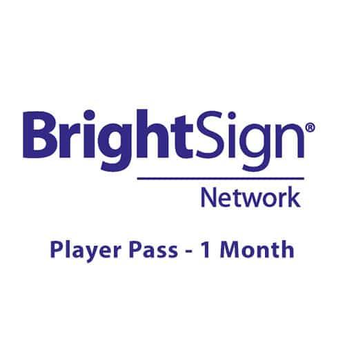 Pass de lecteur réseau BrightSign - 1 mois
