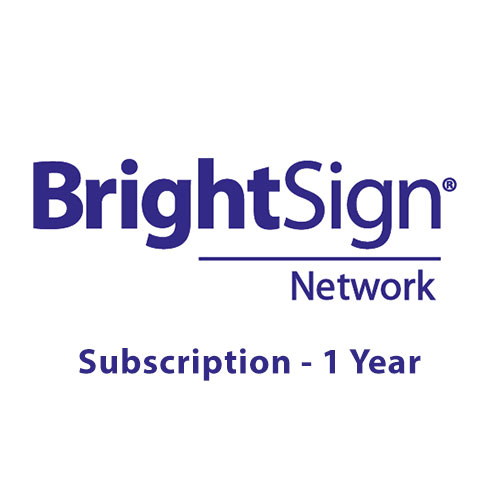BrightSign Network Player Subscription - 1 year