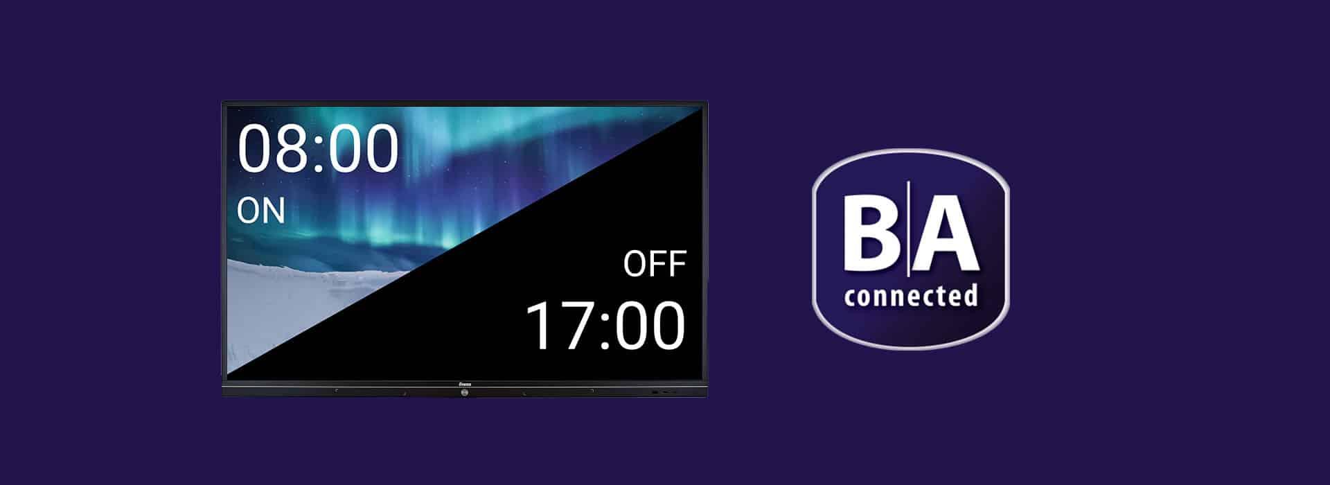 BrightSign Zeitsteuerung Bildschirm aus